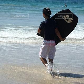 海,スポーツ,波,人