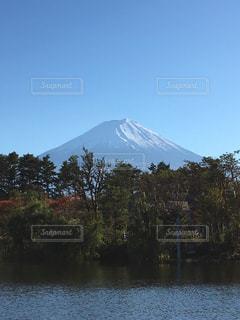 自然,風景,空,富士山,湖,水面,ポジティブ