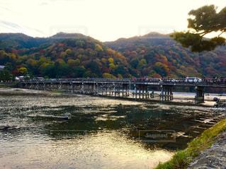 自然,秋,橋,紅葉,屋外,京都,川,観光,嵐山,渡月橋