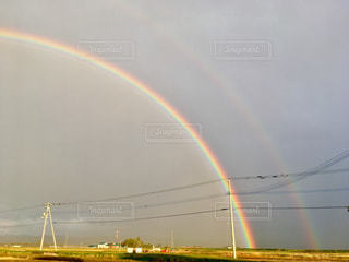 自然,風景,空,雨,虹,レインボー,雨上がり