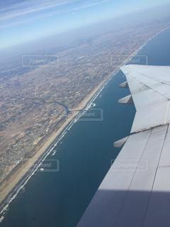 風景,海,絶景,飛行機,海岸,景色,旅行,海外旅行,上空,太平洋,日中,サンセットビーチ