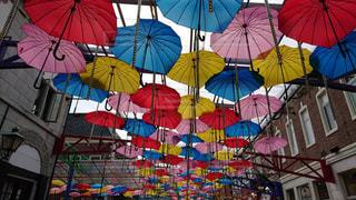 カラフルな傘の写真・画像素材[1557980]