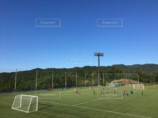 サッカーの試合の写真・画像素材[1558924]