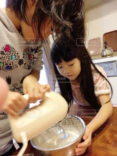 ケーキ作りの写真・画像素材[1667961]