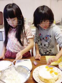 ケーキ作りの写真・画像素材[1667969]
