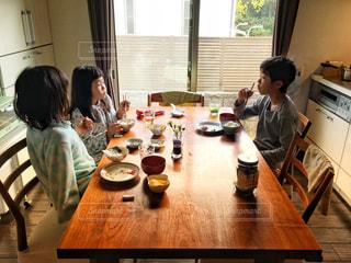 休日の朝ごはんの写真・画像素材[1673714]