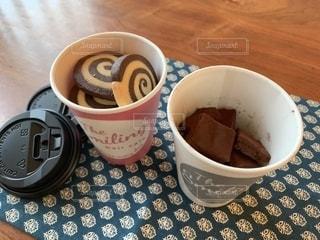 ランチョンマット,クッキー,カップ,バレンタイン,手作り,生チョコ,友チョコ,渦巻きクッキー