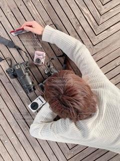 カメラ女子!?の写真・画像素材[1845193]