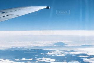 空,富士山,雲,飛行機,旅,未来,翼,夢,ポジティブ,可能性