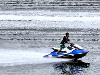 夏,スポーツ,屋外,ボート,水面,人物,人,マリンスポーツ,水上バイク,スピード,パーソン