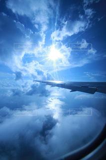 空,屋外,青,水,飛行機,飛ぶ,ジェット,日中