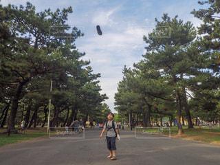 空,公園,子供,天気,靴投げ