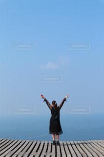 海,空,屋外,波,糸島,景観