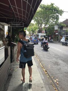 歩道,買い物,通り,リュック,ひとり旅,休暇,散策
