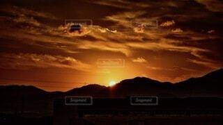 風景,空,太陽,朝日,雲,山,正月,お正月,日の出,新年,初日の出