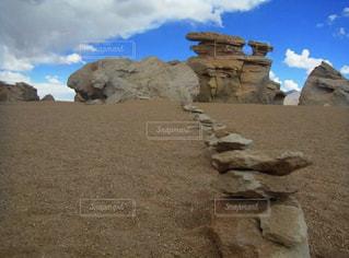 自然,空,砂,青空,観光,岩,旅行,旅,砂利,石,海外旅行,ボリビア,ウユニの山