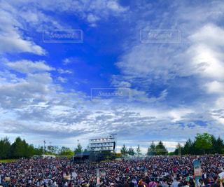 空,群衆,屋外,雲,青,人物,グループ,ライブ,enjoy