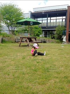 子ども,空,芝生,屋外,帽子,草,シャボン玉,テーブル,未来,夢,ポジティブ,目標,可能性