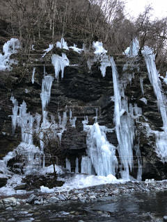 冬,白,冬景色,景色,滝,ホワイト,氷柱