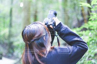 森の中の人の写真・画像素材[1646817]