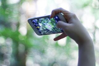 携帯電話を持つ手の写真・画像素材[1876673]