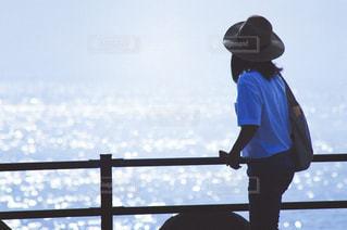 海,夏,青,麦わら帽子,キラキラ,Tシャツ,半袖