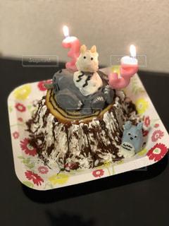 ケーキ,スマイル,子供,笑顔,美味しい,夕食,パーティー