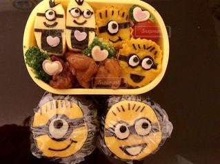 お弁当,子供,笑顔,昼食,美味しい