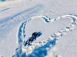 子ども,冬,雪,白,子供,ハート,遊び,休日,ゆき,お絵かき,真っ白