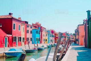 イタリアブルーノ島での写真の写真・画像素材[1576875]