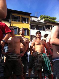祭り,イタリア,ナルシスト,裸,フィレンツエ,古代サッカー
