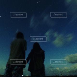 星空を見上げての写真・画像素材[1586627]