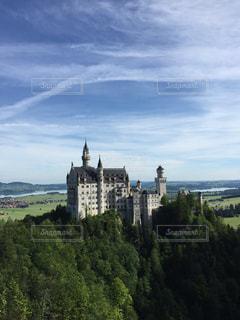 モデル,風景,空,海外,森,緑,白,雲,綺麗,青,お城,旅行,ドイツ,海外旅行,シンデレラ,新婚旅行
