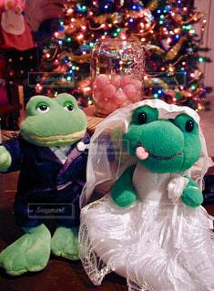 カエルの結婚式の写真・画像素材[1598249]