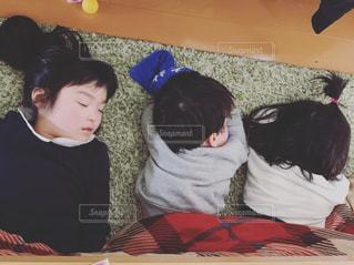 仲良くお昼寝の写真・画像素材[1746372]
