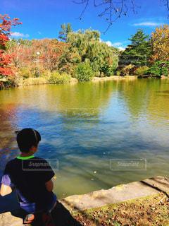 秋,紅葉,湖,樹木,元気,旅行,未来,男の子,夢,お気に入り,ポジティブ,可能性