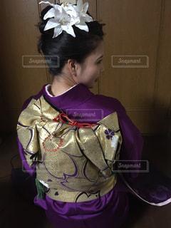 紫,着物,晴れ着,成人式