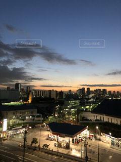 夜の街の景色の写真・画像素材[1648221]