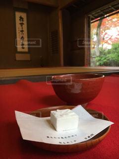 宝厳院の茶屋で お抹茶と和菓子の写真・画像素材[1683872]