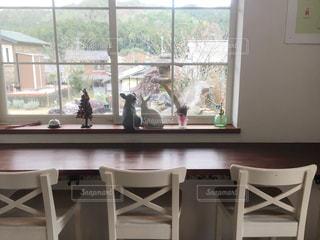 窓とテーブルの写真・画像素材[3285521]