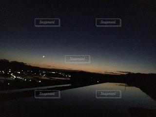 日没直後の空の写真・画像素材[3373909]