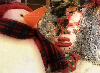 12月の雪だるまの写真・画像素材[1664486]