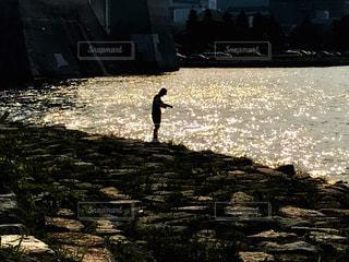 釣り人の写真・画像素材[1702008]
