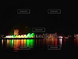 琵琶湖の夜色の写真・画像素材[1708603]