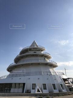 青空,熊本,三角,三角港,フェリー乗り場,白い建物,三角の建物