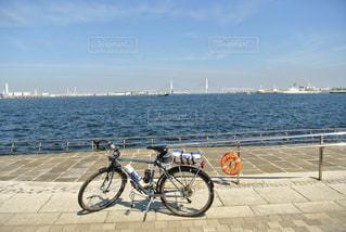 海,夏,自転車,晴れ,ベイブリッジ