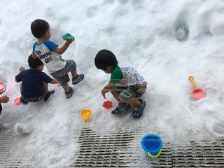 夏,雪,白,こども,富士急ハイランド,ホワイト,園児,人工雪