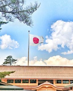 出雲大社に旅行中の学生が撮った一枚の写真・画像素材[1591583]