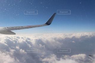 空,白,雲,綺麗,青,飛行機