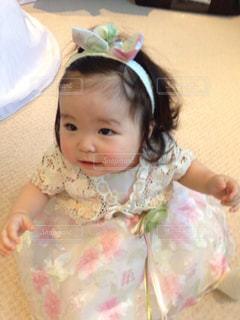 白,かわいい,結婚式,女の子,ドレス,人物,人,熊本,幼児,ホワイト,10カ月